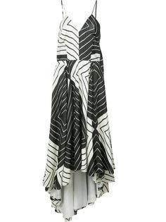 geometric print cami dress Christian Siriano
