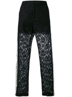 кружевные брюки с панельным дизайном Nude