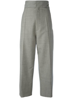 houndstooth straight leg trousers Jacquemus