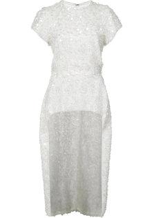 асимметричная блузка с пайетками Christian Siriano
