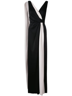 draped woven column dress Paule Ka