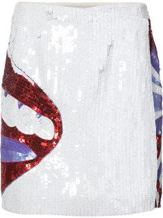 юбка с губами из пайеток Olympia Le-Tan