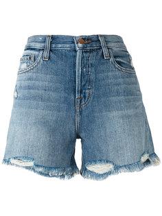 шорты с потертостями  J Brand