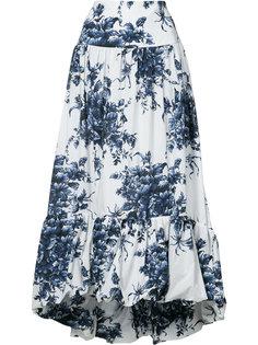 расклешенная юбка с цветочным принтом Sonia Rykiel