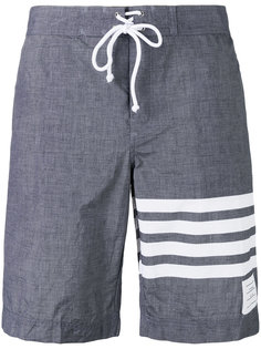 striped beach shorts Thom Browne