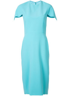 scalloped sleeve dress  Christian Siriano