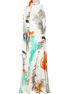 платье с завязками на шее Christian Siriano