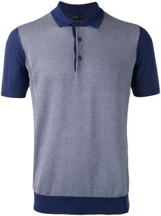 grid polo shirt Corneliani