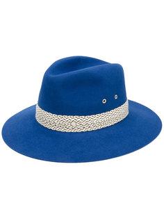 шляпа с контрастной тесьмой Maison Michel