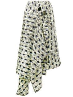 асимметричная юбка с принтом Garland  Marni