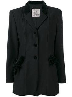 пиджак на пуговицах с контрастным воротником Moschino Vintage