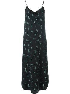 платье-комбинация с узором из кактусов Equipment