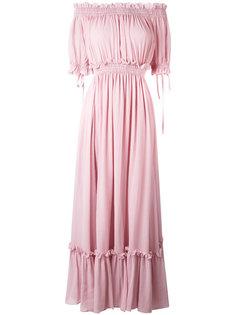 платье с открытыми плечами Alexander McQueen