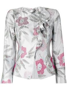 жаккардовая куртка с цветочным узором  Armani Collezioni