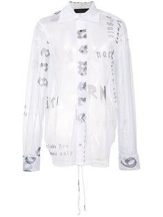 прозрачная рубашка Words Area Di Barbara Bologna