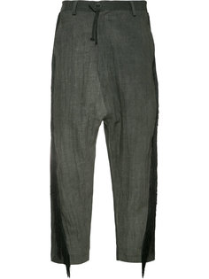 укороченные брюки с бахромой Area Di Barbara Bologna