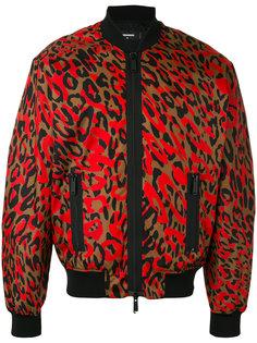 куртка-бомбер с камуфляжным принтом Dsquared2