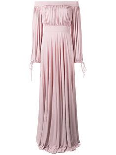 длинное платье с открытыми плечами Alexander McQueen