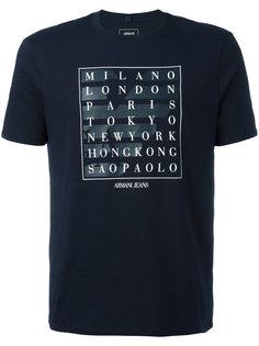футболка с принтом City Armani Jeans