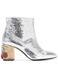 embellished heel ankle boots Nº21