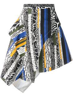 ruffled striped skirt Versus