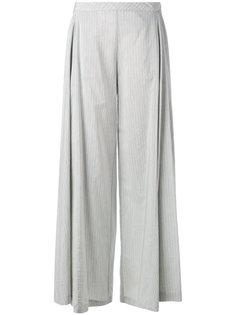 широкие брюки в полоску  Stefano Mortari