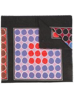 шарф с геометрическим узором Wunderkind