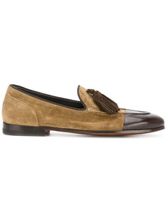 tasselled bi-colour loafers Alberto Fasciani