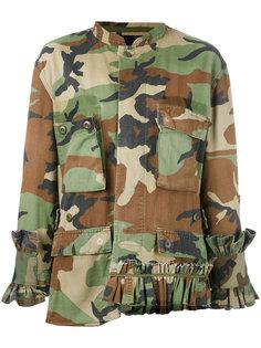 camouflage jacket Erika Cavallini