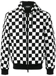 спортивная куртка в клетку Dsquared2