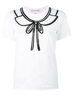 футболка с принтом-бантом Comme Des Garçons