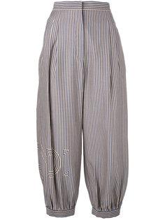 укороченные брюки в полоску Fendi