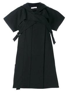 платье с пряжками Paco Rabanne