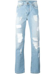 прямые рваные джинсы Iceberg