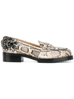 snakeskin effect embellished loafers Nº21