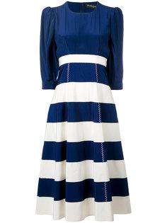 платье с полосатой юбкой Rossella Jardini