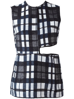 cut-out checked top Ter Et Bantine