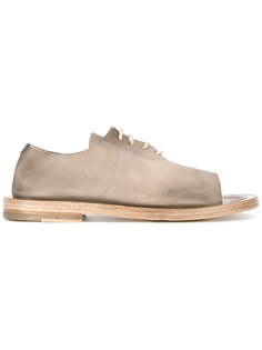 open toe lace-up shoes Rundholz