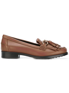 fringed tasseled loafers Tods Tod`S