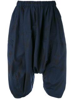 шорты с заниженным шаговым швом и драпировкой  Comme Des Garçons