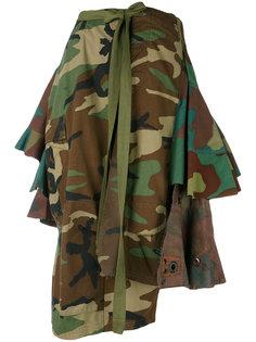 camouflage asymmetric skirt Erika Cavallini