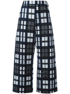 checked cropped trousers Ter Et Bantine