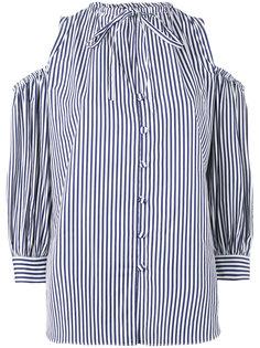 полосатая рубашка с открытыми плечами Rossella Jardini