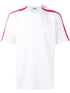 футболка с контрастными полосками MSGM