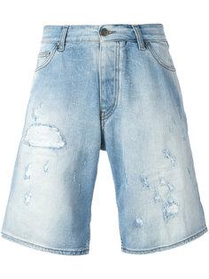 длинные рваные джинсовые шорты Armani Jeans