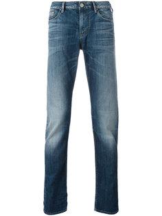 облегающие джинсы с эффектом потертости Armani Jeans