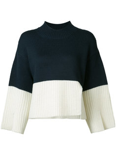 high neck ribbed jumper Victor Alfaro