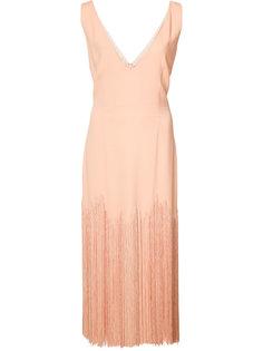 платье с бахромой и V-образным вырезом Sally Lapointe