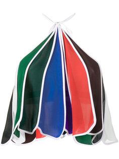 rainbow halter neck top Rosie Assoulin