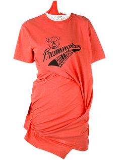 футболка с присборенной отделкой Junya Watanabe Comme Des Garçons